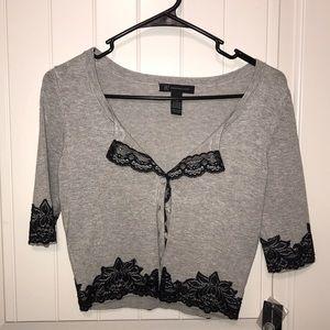 Grey 3/4 Sleeve Cardigan